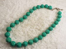 Dark Seafoam Faceted Bead Necklace  (B21)
