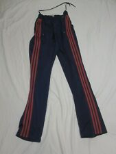 Vintage ADIDAS Track Gym Pants TREFOIL 3 Stripes Navy & Red Mens XL CLEAN!