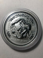 2000 Australian Lunar Series Year of Dragon 10 Oz $10 Silver Coin, 7926 Mint, BU