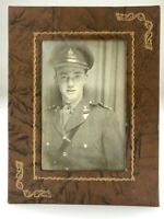 WWII World War 2 Canada Canadian Soldier Photo Booth Photograph Black White U360