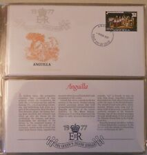 1977 THE QUEEN'S SILVER JUBILEE FIRST DAY COVERS STAMP COLLECTOR'S ALBUM