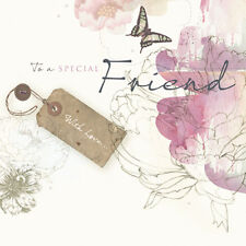 "Special Friend Birthday Card ""Butterfly & Flowers"" Size 6.25"" x 6.25"" - NEHI 000"