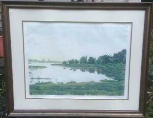 "Gordon Mortensen ""Late Summer"" Hand Signed Woodcut Reduction Art 1975 Listed"