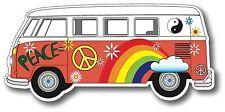 Hippy Van Peace Car Bumper Window Sticker Decal