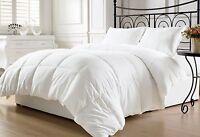 Reversible White Down Alternative Comforter, Duvet Insert, Cover Twin,Queen King