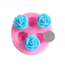 3D Silicone Flower Rose Baby Shower Soap Mold Chocolate Sugercraft Fondant Mould