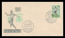 Iceland 1964 FDC, The Olympic Games In Toyko. Lot # 9.