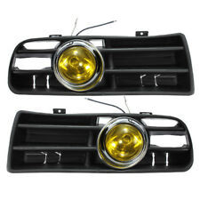Front Grille LED Yellow Fog Light Lower Grill For 1998-04 VW Golf MK4 GTI TDI US