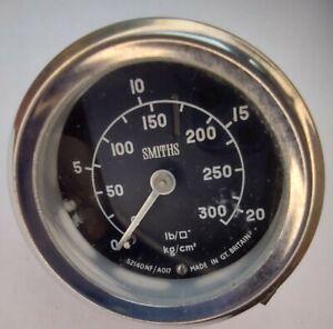 Smiths Pressure Gauge 52140NF/A017 - Classic Car part 0-20lb - Oil Air Vintage