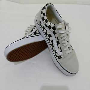 Vans Old Skool Checkerboard Suede White/Black Unisex VN0A38G127K - US 7/ 8.5Wmns