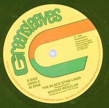 """"""" THE BLACK STARLINER."""" reggae regulars. GREENSLEEVES 12in 1978."""