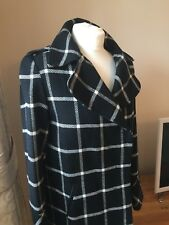 DOROTHY PERKINS Lady's Wool Blend Lined Check 3/4 Coat  Size UK 12  Worn Once!
