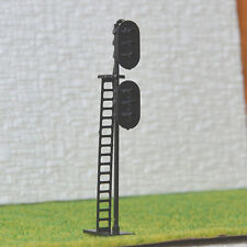 4 pcs HO Scale 1:87 LEDs Made 2 heads Railroad Signals 3 over 3 (R/Y/G + Y/G/R)