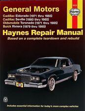 Guía de reparación Cadillac Eldorado 1971 - 1985 raras