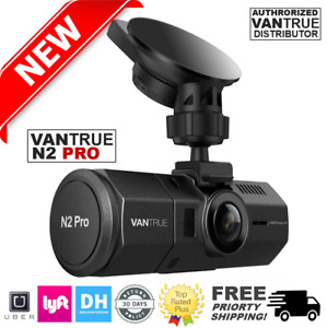 UPGRADED Vantrue N2 PRO-Dual Dash Cam-Infrared Night Vision 256GB Support Mount