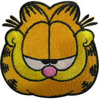 Garfield Patch Cat Embroidered Badge Iron Sew On Clothes Bag Embroidery Applique