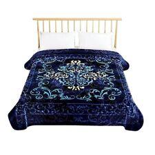 Korean Blanket Mink Heavy 8 Lbs Queen & King Size Thick Warm Plush Soft Blue