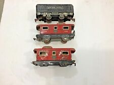Marx? Vintage Pre War Tin Train Car lot, as-is, FREE shipping
