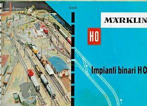 """""""MARKLIN MANUALE IMPIANTI BINARI """"HO 0334"""" PAG. 68 ED. ITALIANA BUONE CONDIZIONI"""