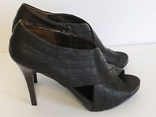CARLOS SANTANA 7 1/2 Brown Heels Bandage zipper back spike platform ladies shoes