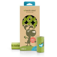 Earth Rated Biodegradable Unscented Poop Bags - 315 Bags on 21 Refill Rolls