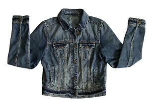 American Eagle Outfitters Distressed Denim Jean Jacket Sz M