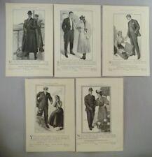 Hart Schaffner & Marx  LOT of 5 PRINT AD - 1905 ~~ Men's Clothing, Fashion