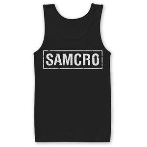 SAMCRO Club Logo Sons Of Anarchy Redwood Original Männer Men Tanktop Shirt Black