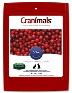 Cranimals D-Tox for Dogs & Cats 120g DHA Omega 3 Spirulina