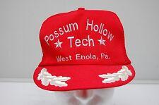 Possum Hollow Tech Trucker Hat Otto Snap Back Red Silver Leaf Brim One Size Euc