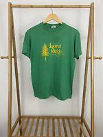 VTG Hanes 80s Laurel Ridge Camp Thin Single Stitch T-Shirt Size L USA