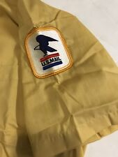 Vintage Mens Yellow Us Post Office Short Sleeve Shirt Size Med