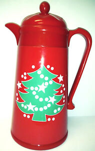 Vintage Waechtersbach Christmas Tree Carafe Thermos Germany Serving Red