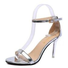 Sexy Ankle Strap Ladies Shoes Stiletto Buckle Peep Toe Sandals Court High Heels