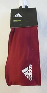 NWT Adidas Adult Reversible Wide Head Band One Size Collegiate Burgundy MSRP$25