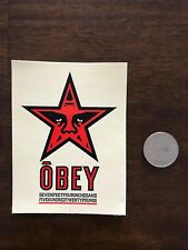 SHEPARD FAIREY Obey Giant RED STAR SEVEN FEET Sticker 3 X 4''