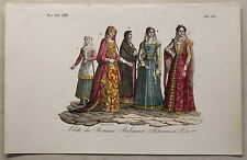 Europa Italien Rom Kleidung Kupferstich um 1825 -Giarré handkoloriert Grafik xyz