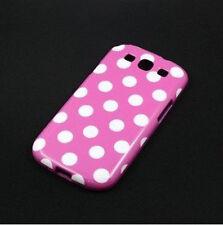 Samsung Galaxy S3 Polka Dot Case / Cover - White & Purple
