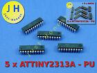 Stk.5x ATTINY2313 A mit/ohne DIP20 Sockel/Socket Mikrocontroller Microcontroller