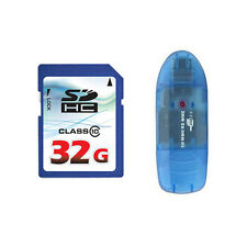 OEM 32GB 32G Class 10 SD SDHC Flash Memory Card HD Video + Reader