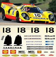 Porsche 917 K Sandeman LeMans 1970 D. Piper & van Lennep #18 1:43 Decal Abziehbi