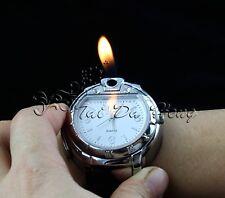 Unique Men's Butane  Cigarette/Cigar Lighter Refillable White Wrist Watch