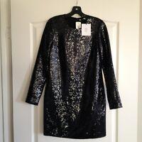 New with Tags, DVF Diane von Furstenberg 'Menaro' Sequin Shift Dress $545 Sz 2