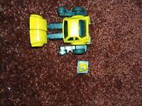 Vintage Transformers G1 Yellow Cliffjumper Mini Pre Rub Circle Stamp