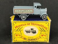 Mint Matchbox Yesteryear Y6 Series 1 Issue 4 AEC Y Type Lorry (*Dark Grey) & Box