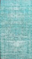 Antique Distressed Overdyed Traditional Area Rug Wool Oriental Hand-knotted 7x11
