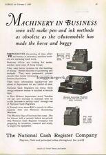 1929 National Cash Register Co.Will Make Pen And Ink Obsolete Vtg Print Ad