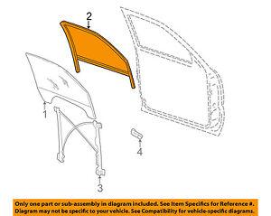 GM OEM Front Door-Window Channel Seal Weatherstrip Right 15219154