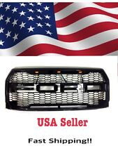 15-17 Ford F-150 Raptor Style Grille Fits F150 2015 2016 2017 inc FORD letters