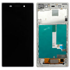 For Sony Xperia Z1 C6903 LCD Display Touch Screen Digitizer Assembly Frame White